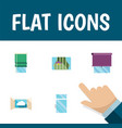 flat icon frame set of glazing cloud balcony and vector image vector image