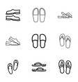 flops icons vector image vector image