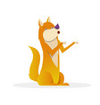 funny dog with raised tail up sitting flat vector image vector image