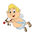 Funny little cupid vector image