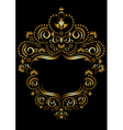 Gold frame ornament vector image vector image