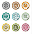 grounge badge collection 3 vector image vector image