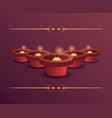 happy diwali celebration vector image