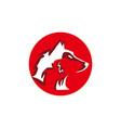 head wolf symbol vector image vector image