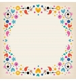 Hearts dots flowers and stars funky note paper vector image vector image