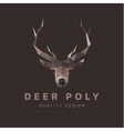 horned animal deer head low poly vector image vector image