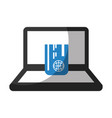 laptop computer with credit card vector image vector image