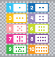 learn numbers and counting for toddlers vector image vector image