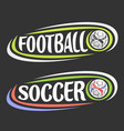 logos for football and soccer vector image