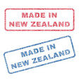 made in new zealand textile stamps vector image