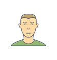 male avatar profile flat icon isolated on white vector image vector image