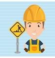 man worker construction vector image