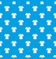 men tennis t-shirt pattern seamless blue vector image vector image