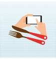 menu online design vector image