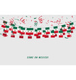 mexico garland flag with confetti vector image vector image