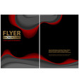 modern flyer paper cut style design with layers vector image vector image