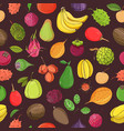 natural seamless pattern with whole tasty fresh vector image vector image