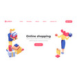 online shopping isometric landing page template vector image vector image