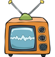 orange TV vector image vector image