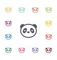 panda flat icons set vector image vector image