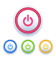 Power buttons icon set vector image vector image
