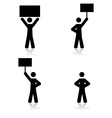 protest icons vector image vector image