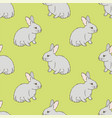 rabbit seamless pattern vector image vector image