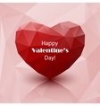 red abstract polygonal heart vector image vector image