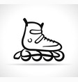 roller skate black icon vector image vector image