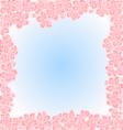Sakura flowers Spring background frame vector image vector image