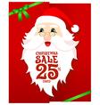 Santa Gift Card vector image vector image