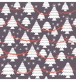 Seamless christmas pattern in flat style vector image vector image