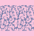 seamless fabric print with floral swirls vector image vector image