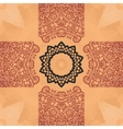 Seamless mandala card Geometric circle element in vector image vector image