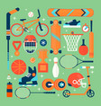 set colorful sport iconsisolated vector image