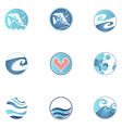 set fishing icons vector image vector image
