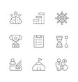 set line icons projects management vector image vector image