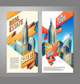 set of advertising posters for sale of real estate vector image