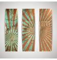 Set of vintage banners with grunge cardboard