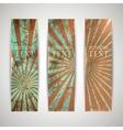set vintage banners with grunge cardboard vector image vector image