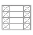 shelving warehouse isolated icon vector image
