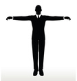 silhouette of businessman default pose vector image vector image