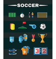 Soccer Football Game Items Flat Design vector image