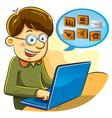 social network boy vector image vector image