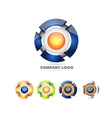 Sphere logo set 3d icon vector image