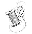 spool thread and needle vector image vector image