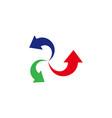 swirl arrows business logo vector image vector image