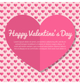 Template Valentines Day Greeting Card Design vector image