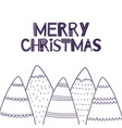 the christmas greeting card in scandinavian style vector image
