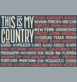 this is my country united state of america flag vector image vector image
